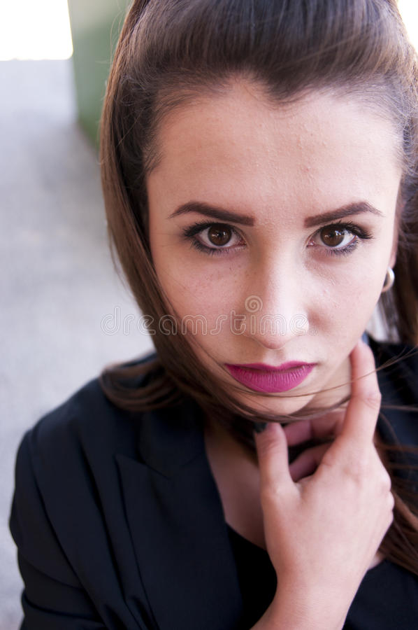 dziewczyna modny portret obrazy stock