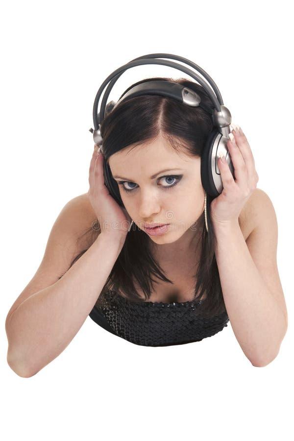 Download Dziewczyna hełmofony zdjęcie stock. Obraz złożonej z biodro - 13325846