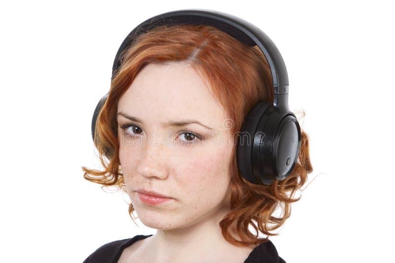 Download Dziewczyna hełmofony zdjęcie stock. Obraz złożonej z odtwarzanie - 13326462