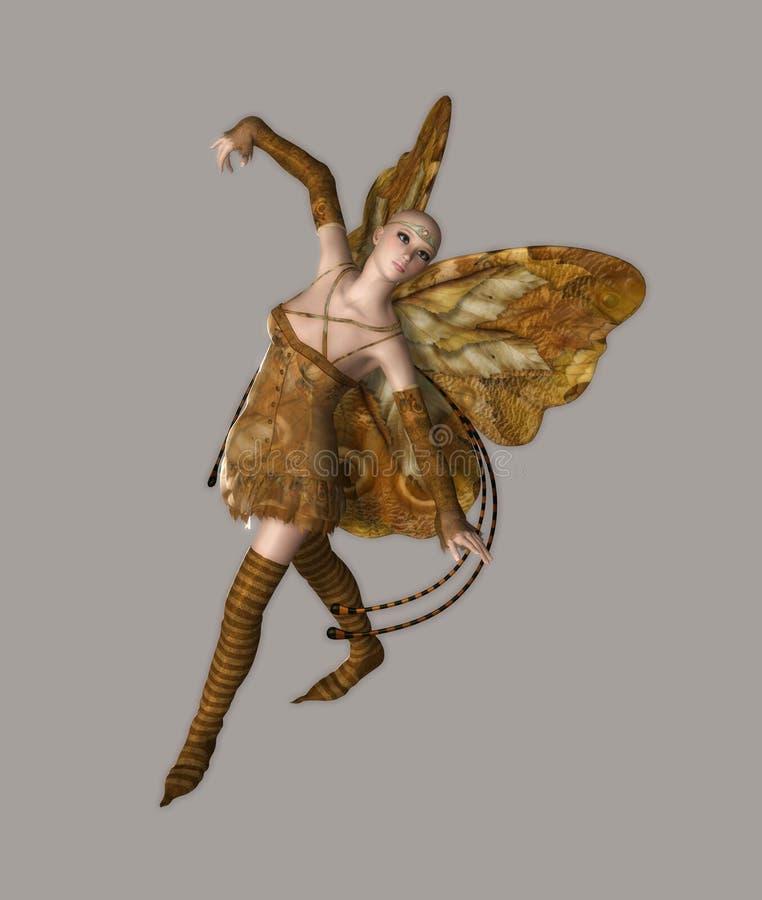dziewczyna motylia ilustracja wektor