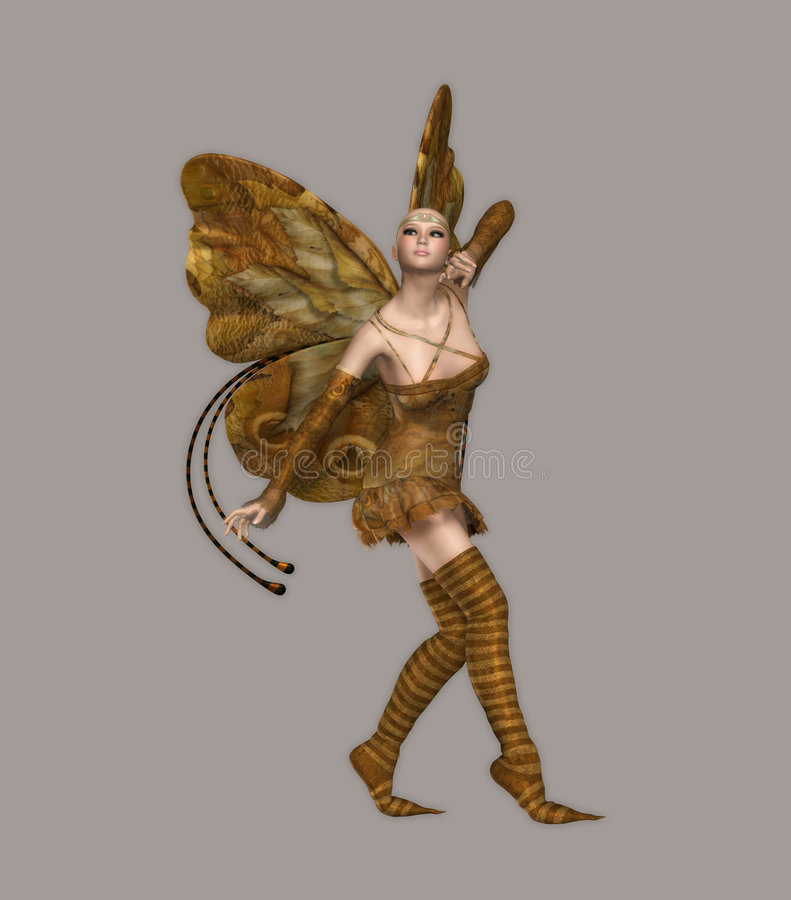 dziewczyna motylia ilustracji