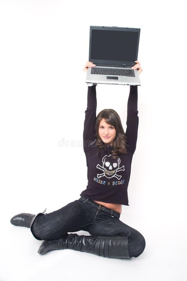 dziewczyna na łono fotografia royalty free