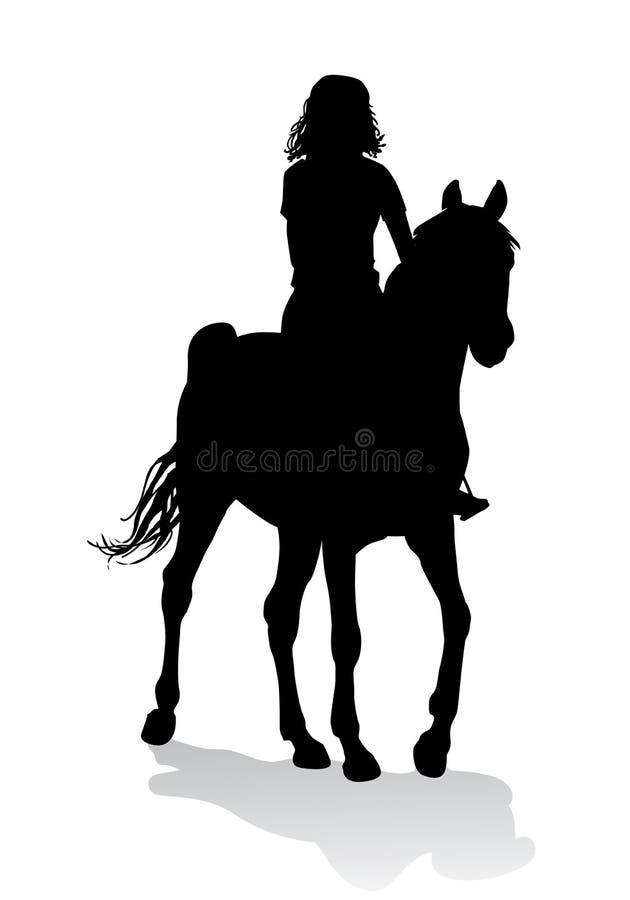 Dziewczyna na koniu ilustracji