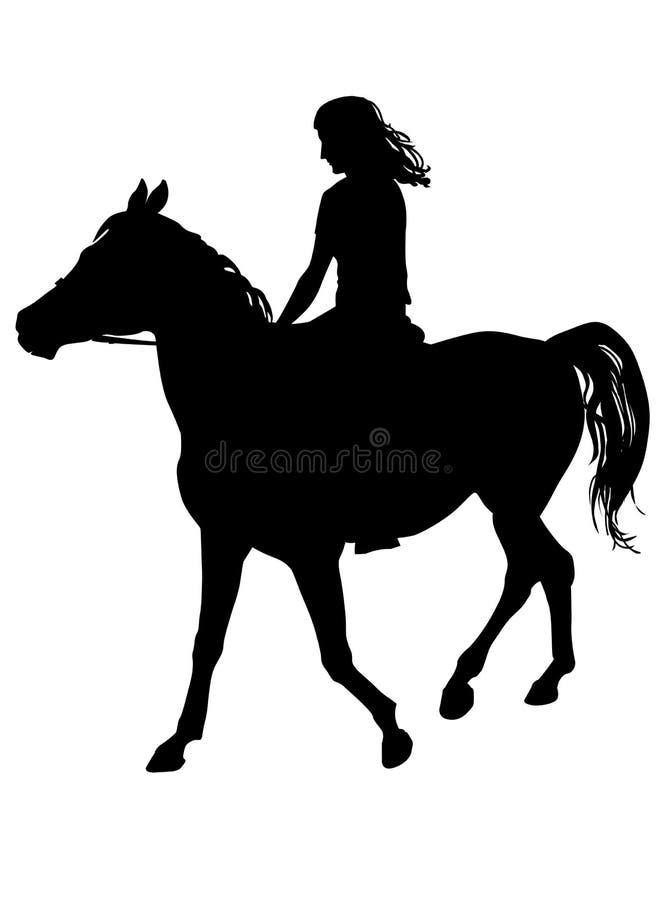 Dziewczyna na koniu ilustracja wektor