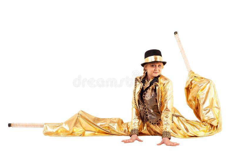 Dziewczyna na stilts obrazy royalty free