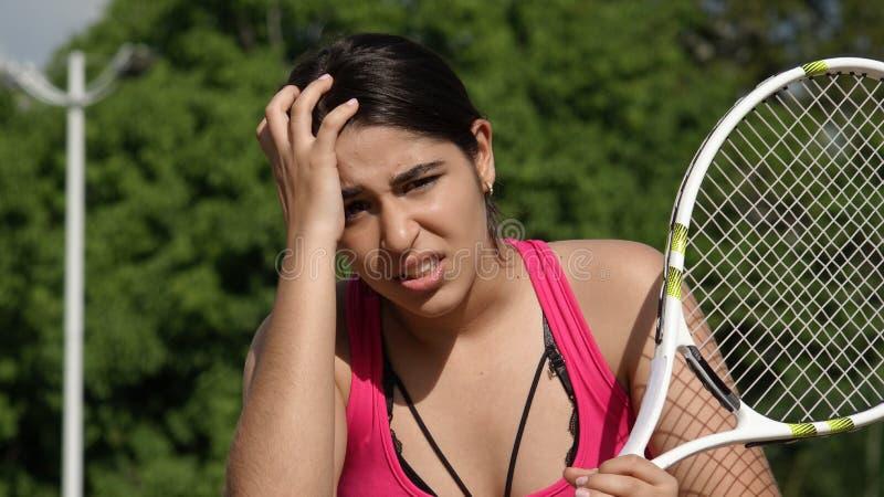 Dziewczyna nastolatka stres I gracz w tenisa obrazy royalty free