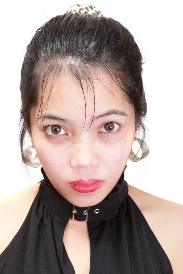 dziewczyna nieświadomy oszałamiający portret zdjęcie stock