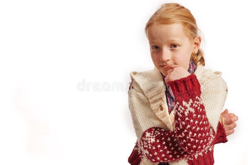 Dziewczyna niezdecydowana obrazy stock