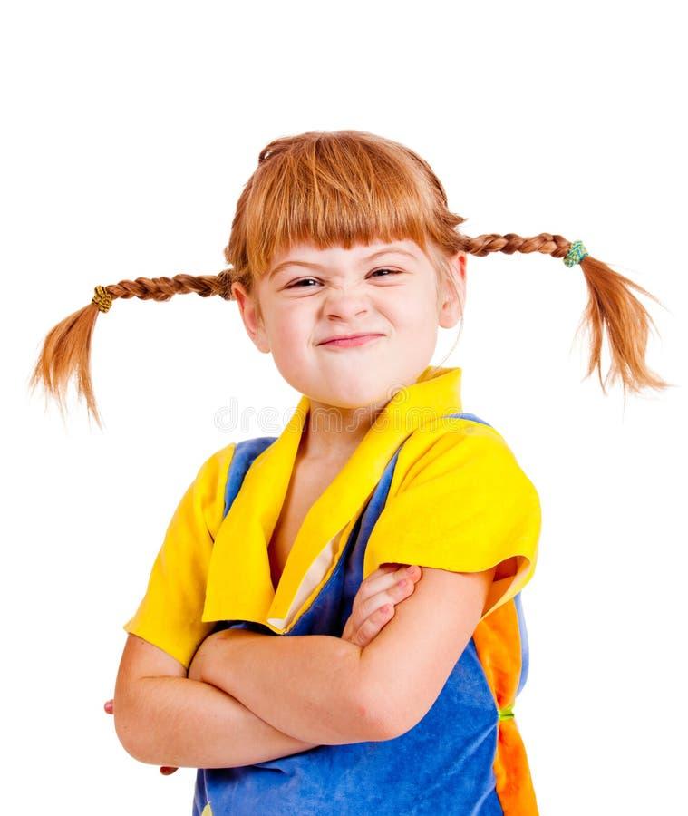dziewczyna obrażająca zdjęcia stock