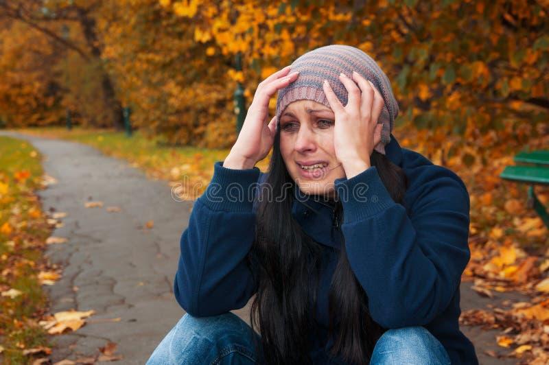 Dziewczyna płacz zdjęcie royalty free