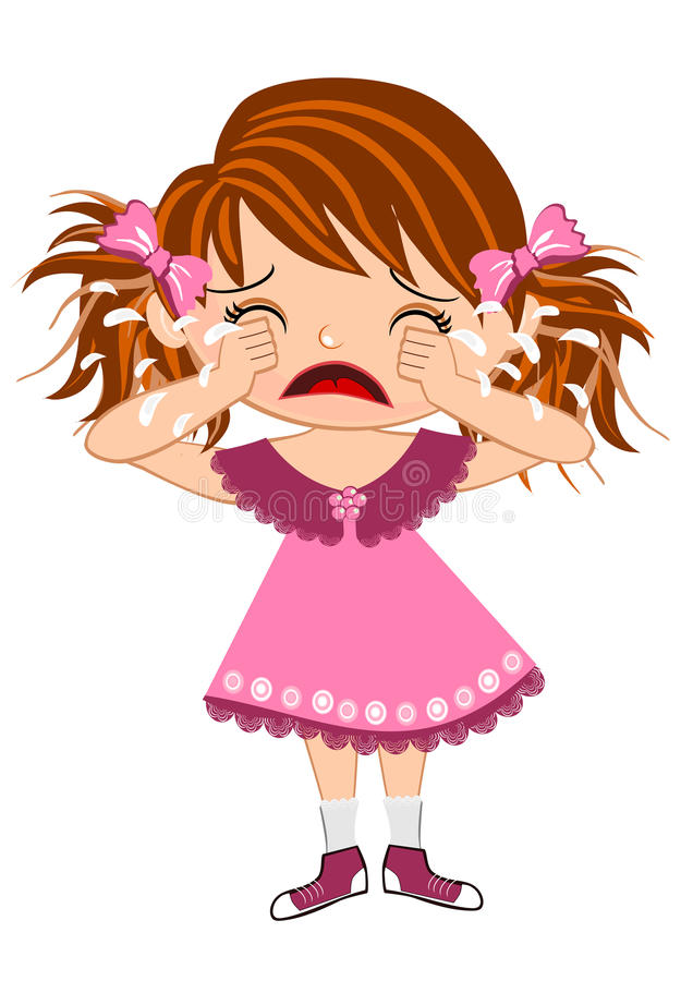 dziewczyna płacze ilustracji