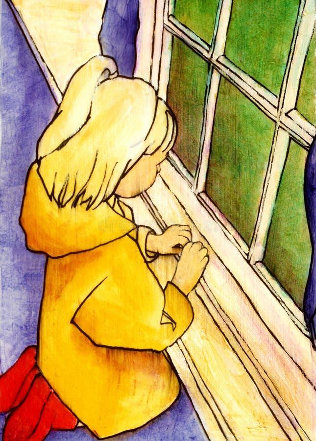 dziewczyna płaszcz przeciwdeszczowy ilustracja wektor