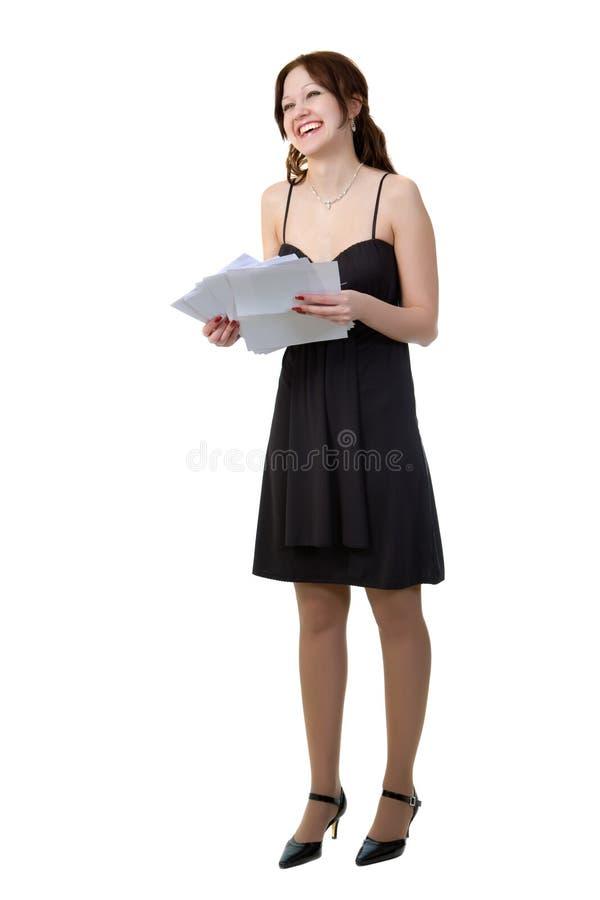 dziewczyna papiery obraz royalty free