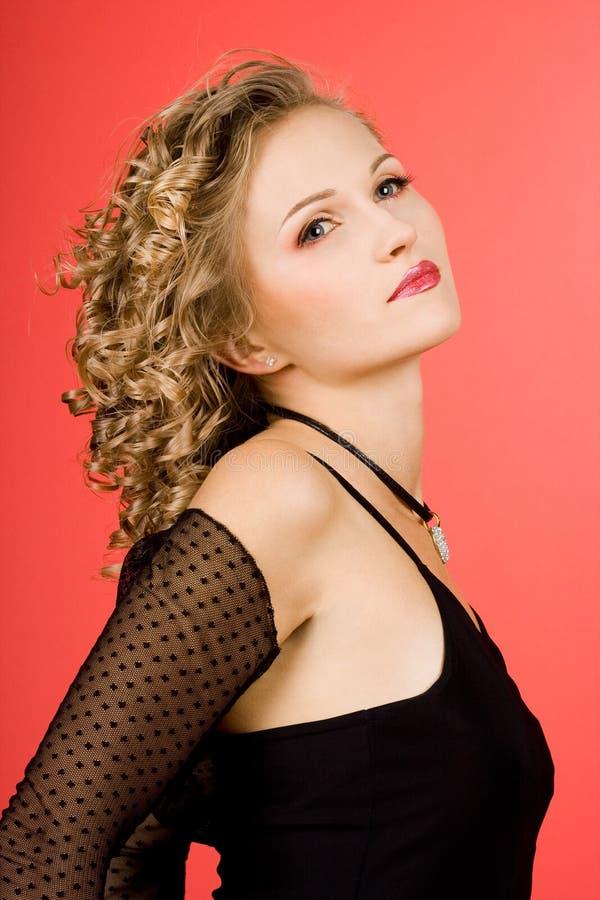 dziewczyna piękni latający włosy fotografia royalty free