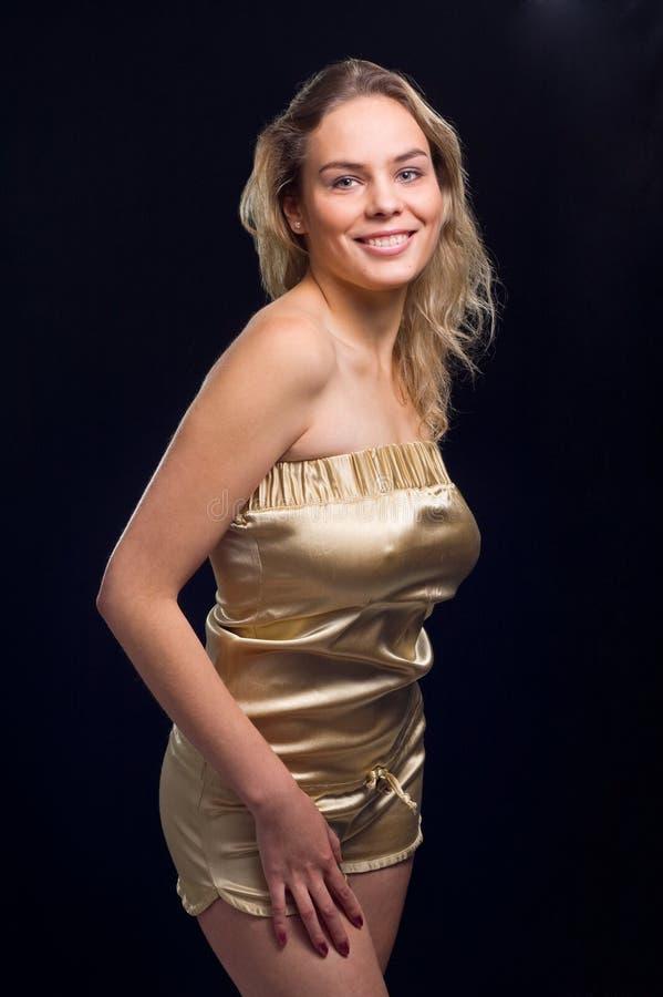 dziewczyna piękny blond uśmiech obraz stock