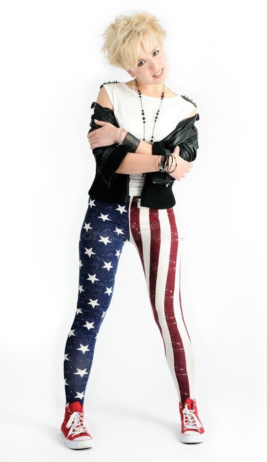 dziewczyna piękny ruch punków obrazy stock