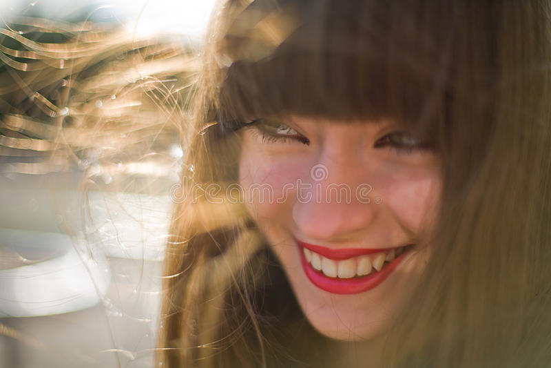 dziewczyna piękny włosy tęsk zdjęcia royalty free