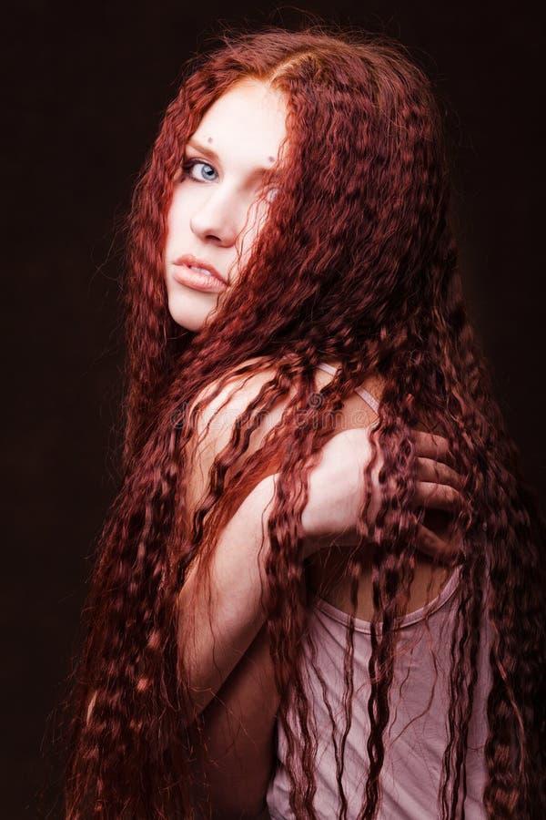 dziewczyna piękny włosy tęsk potomstwa obrazy stock