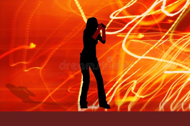 dziewczyna piosenkarz royalty ilustracja
