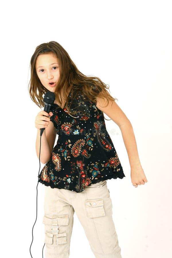 dziewczyna piosenkarz fotografia royalty free