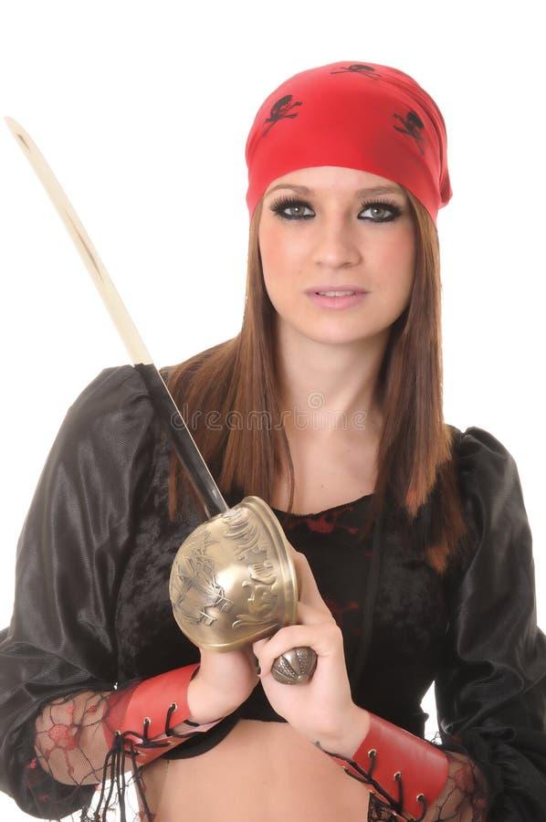 dziewczyna pirat fotografia royalty free