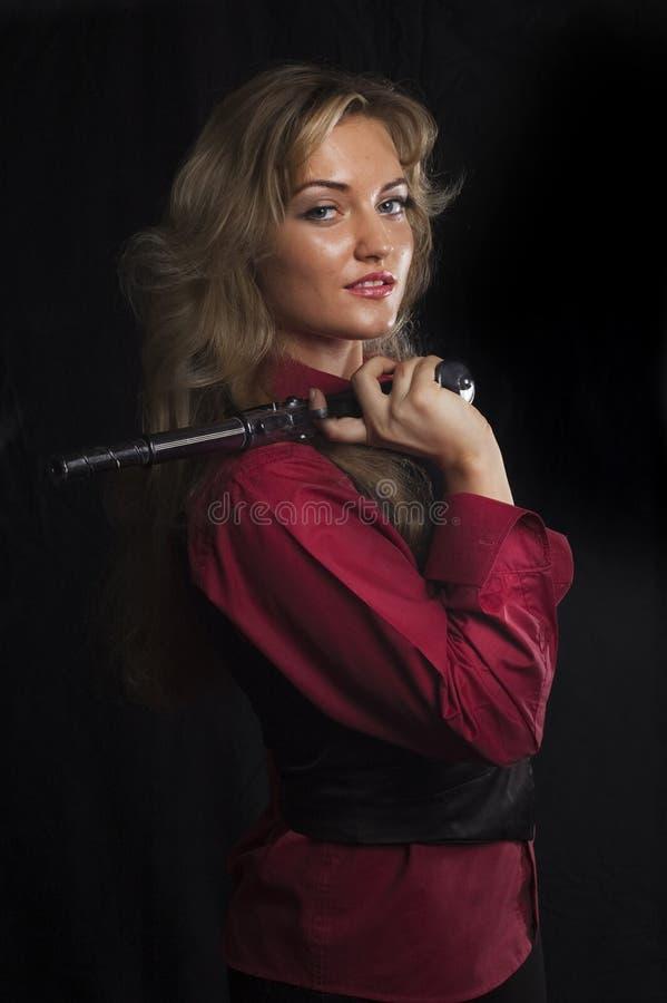 dziewczyna pistolet obrazy royalty free