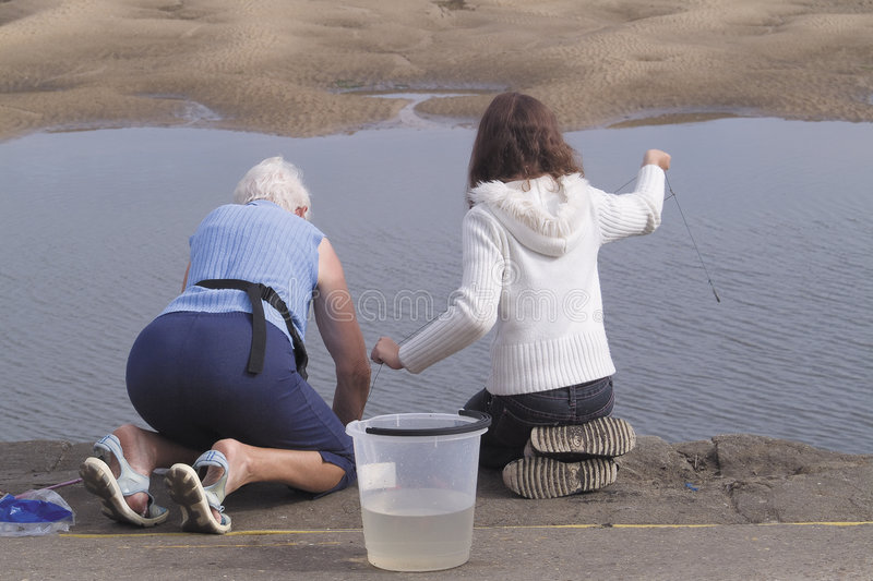 dziewczyna plażowa seniora kobieta zdjęcia stock