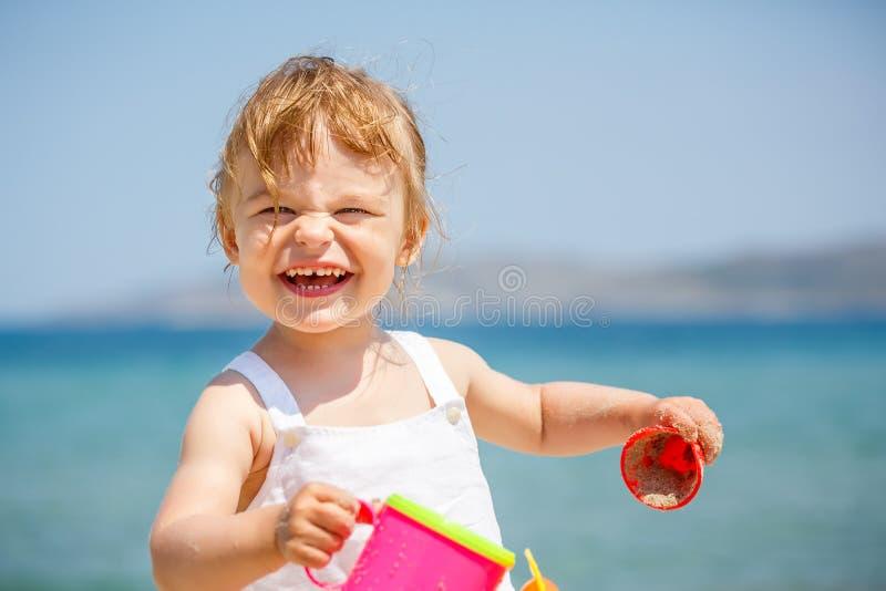dziewczyna plażowa trochę fotografia royalty free