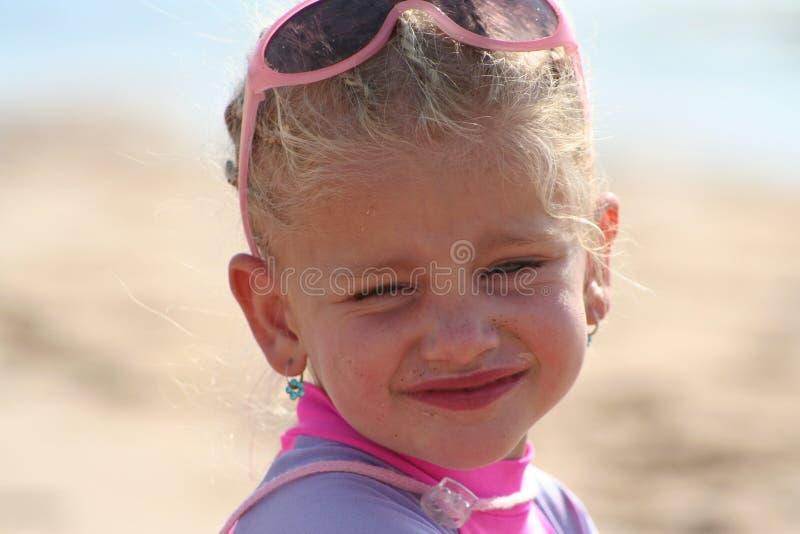 dziewczyna plażowa trochę fotografia stock