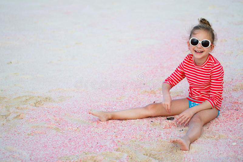 dziewczyna plażowa trochę obrazy stock
