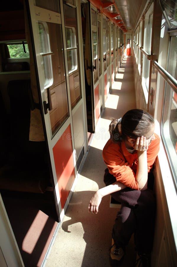 dziewczyna pociąg zdjęcie royalty free