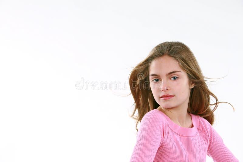 dziewczyna podmuchowy włosy trochę zdjęcia royalty free