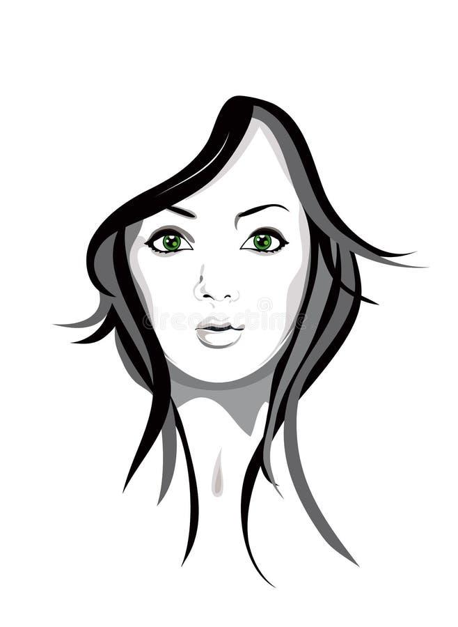 dziewczyna portret ilustracja wektor