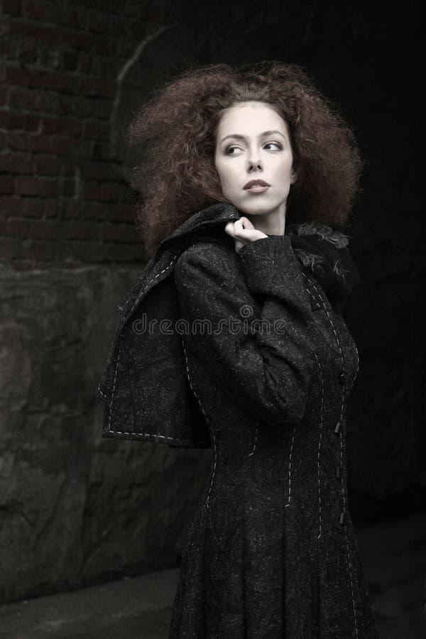 dziewczyna portret czerwone włosy zdjęcia royalty free