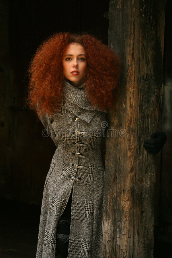 dziewczyna portret czerwone włosy obrazy stock