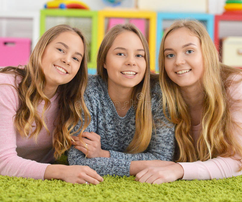 dziewczyna portret nastoletni trzy obraz royalty free