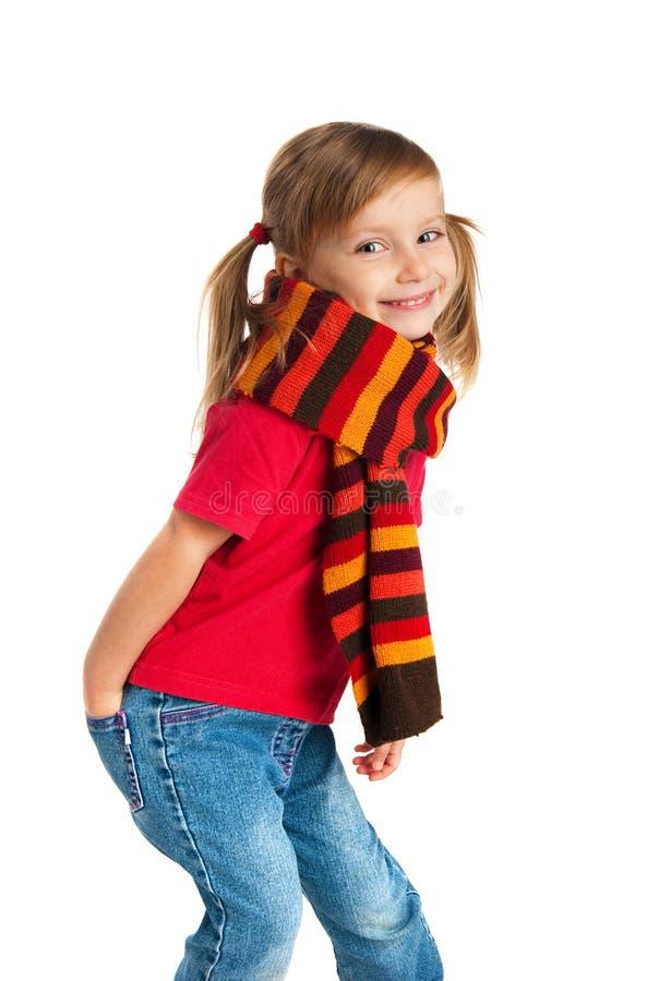 dziewczyna portret szczęśliwy mały zdjęcia stock