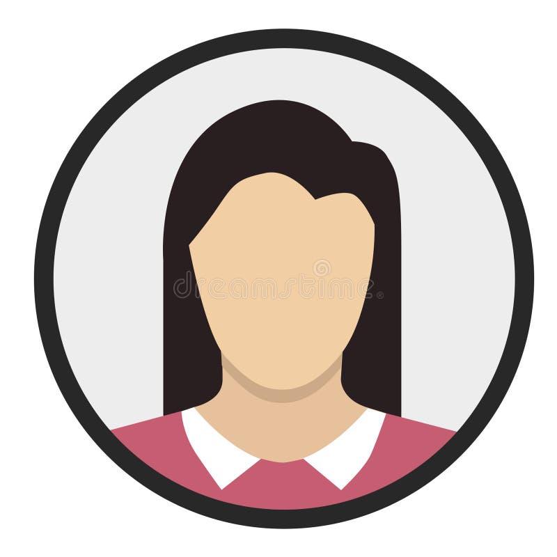 Dziewczyna projekta Płaska ikona fotografia stock