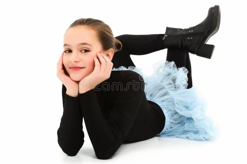 dziewczyna przekręcająca fotografia stock