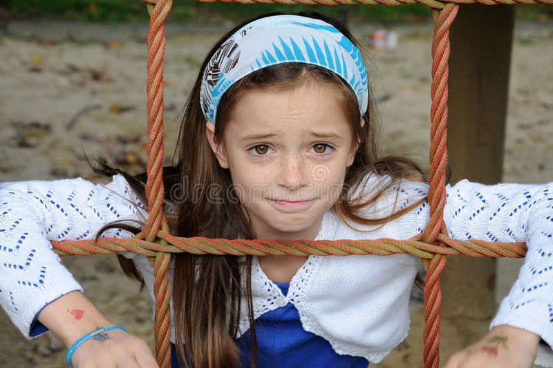 Dziewczyna przy boiskiem fotografia royalty free