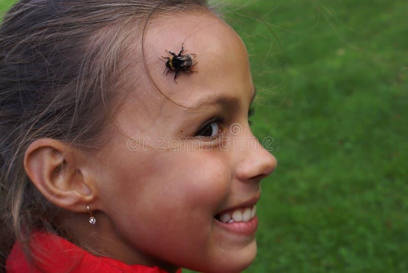 dziewczyna pszczół obrazy royalty free