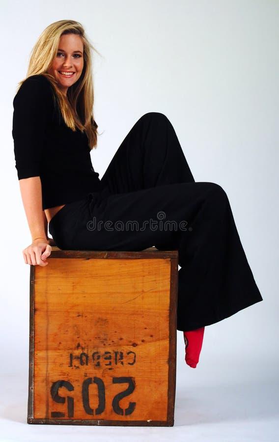 dziewczyna pudełkowata zdjęcie stock
