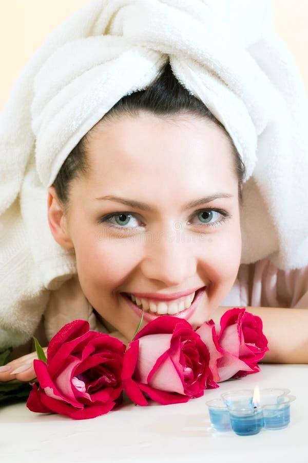 dziewczyna ręcznik young zdjęcia stock