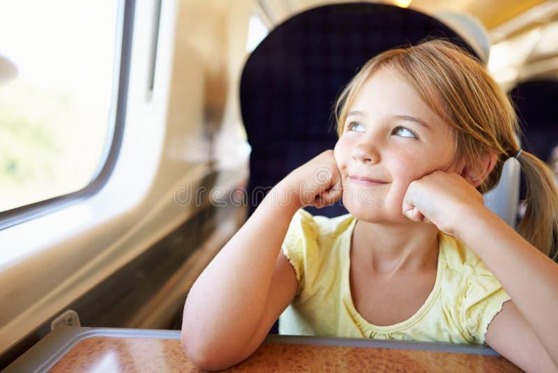 Dziewczyna Relaksuje Na Taborowej podróży zdjęcie royalty free