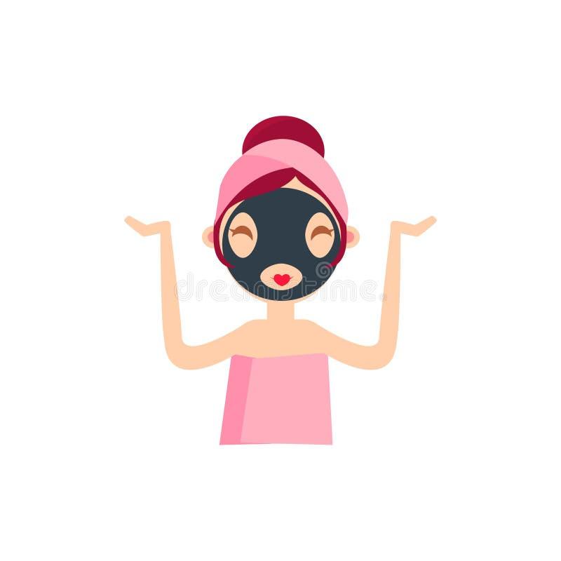 Dziewczyna Robi brud masce ilustracja wektor