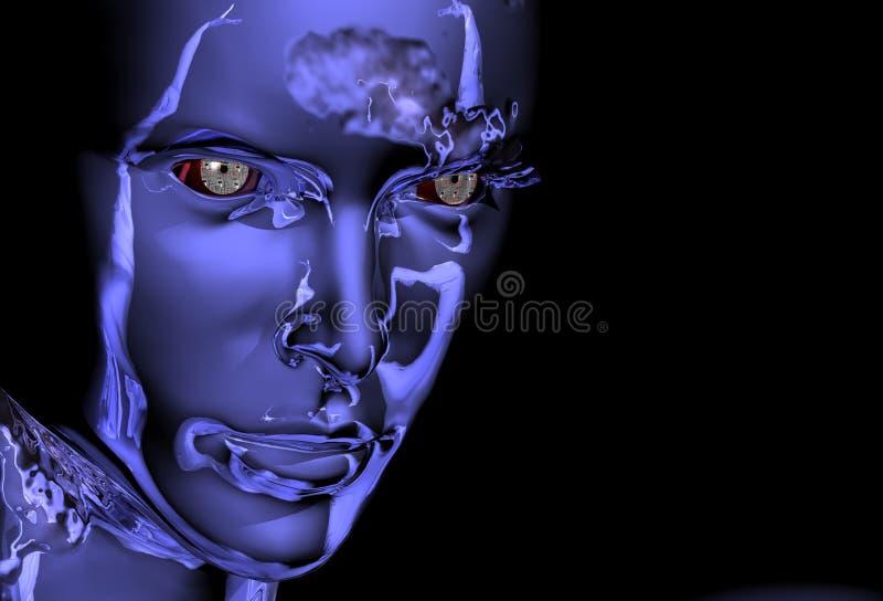 dziewczyna robot ilustracja wektor