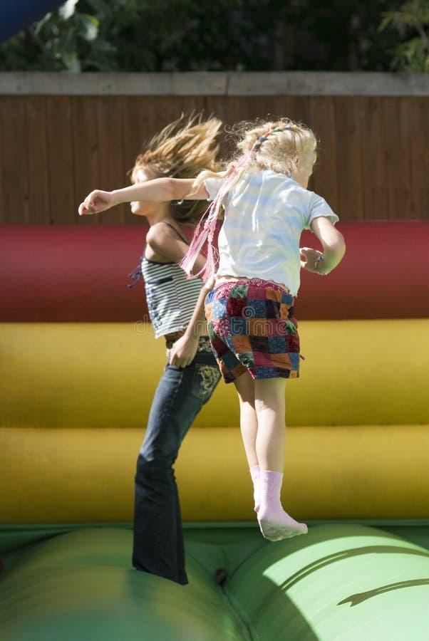 dziewczyna rozrywkowy park dwa fotografia royalty free