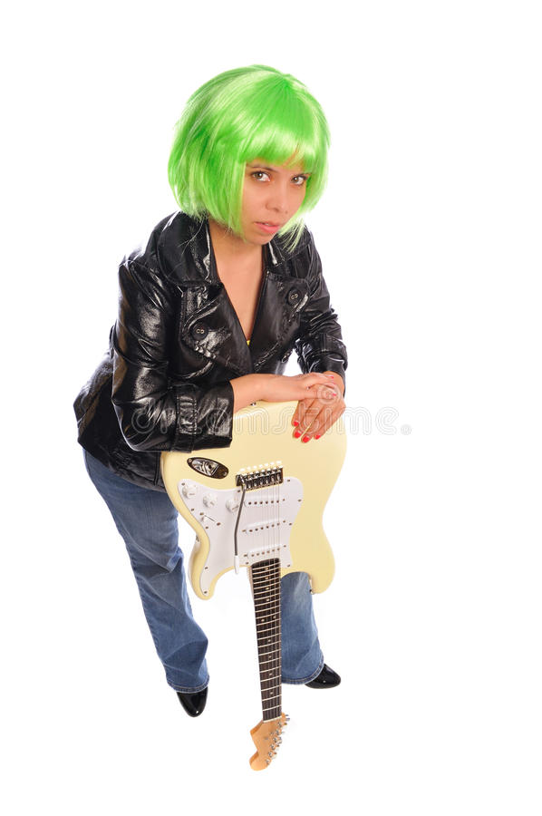 dziewczyna ruch punków fotografia royalty free