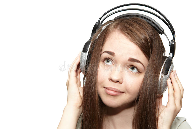 Dziewczyna słucha muzyka obrazy royalty free