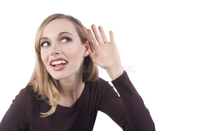 dziewczyna słucha target404_0_ zdjęcia royalty free